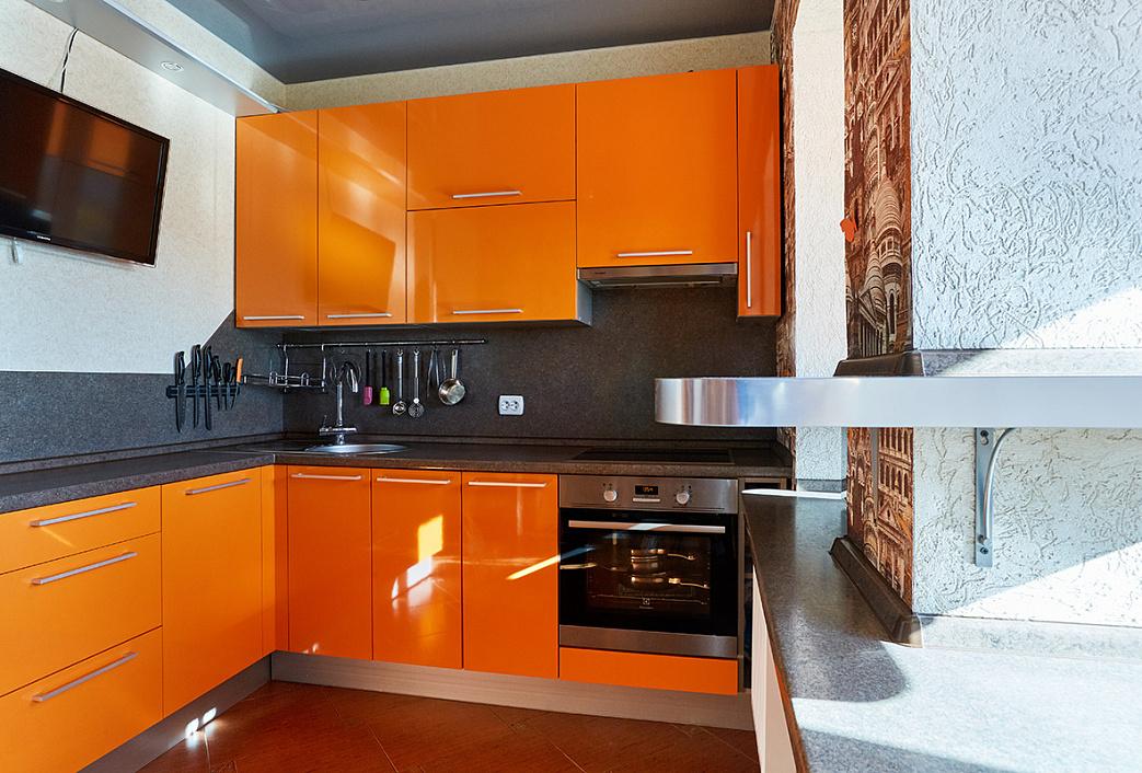 оранжевая кухня с белым акрил фото должны принимать практически
